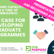 Building Capacity in a time of turbulence Case for Grad Programme
